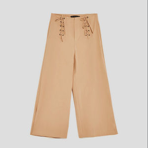 ZARA l Paper Bag Trouser with Front Tied Detail